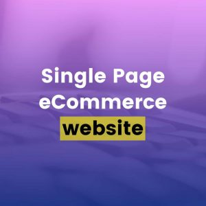 Single Page eCommerce Website